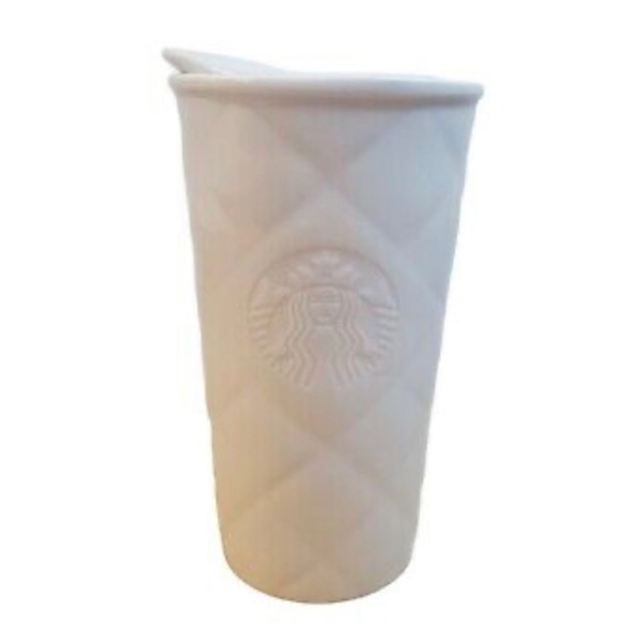 STARBUCKS  2012 Quilted Mermaid Ceramic Travel Cup